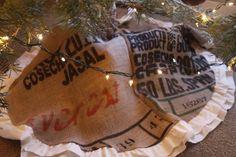 Coffee bag tree skirt