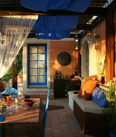 Unmistakably Mediterranean!  Important to note mix of colors and style for our new Loggia.