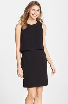 Eliza J Crepe Popover Dress (Regular & Petite) available at #Nordstrom