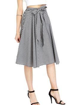 Gingham skirt coming to Retro Riviera...Sizes S-3X