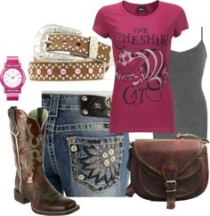 """""""Day at the barn #2: think pink"""" by sunnykansas on Polyvore"""