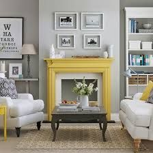 Great Grey And Yellow Living Room Ideas Creative