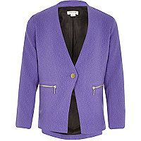 Purple blazer by River Island River Island Fashion 80d0076a4db