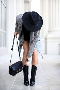 Boots Alexander Wang | Bag Proenza Schouler Ps11 | Hat Madewell http://FashionCognoscente.blogspot.com