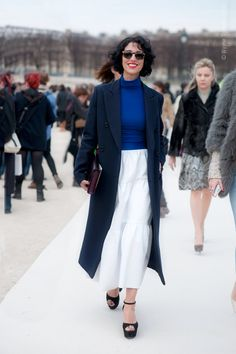 another day in Paris, another brilliant outfit on Yasmin. #YasminSewell #WayneTippetts