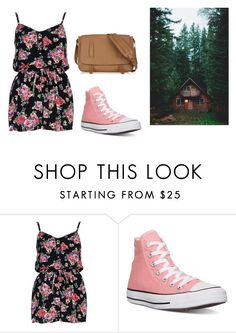 """Untitled #14255"" by jayda365 ❤ liked on Polyvore featuring River Island, Converse and Tomas Maier"