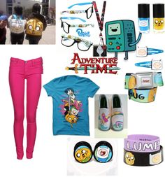 """""""adventure time outfit :3"""" by xxrainbowgashesxx ❤ liked on Polyvore"""