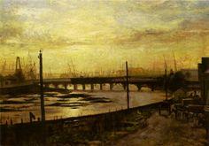 Pitt designed this bridge c1880 (?) File:Falls Bridge Melbourne 1882 (Frederick McCubbin).jpg