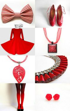 Red and White and Red and White by June Corst on Etsy--Pinned with TreasuryPin.com