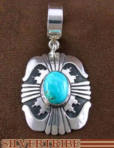 Tommy Singer Turquoise and Sterling Silver Pendant at SilverTribe.com