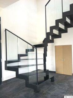 """Résultat de recherche d'images pour """"escalier métal marche verre"""""""