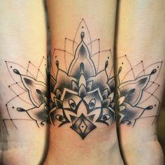 wrist half mandala tattoo