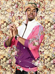 """Perfectly Chaotic """"After Ingres' The Virgin with the Host"""" by Kehinde Wiley. Oil on canvas, 2009 Kehinde Wiley was born in Los Angeles, California in His father is Yoruba from Nigeria, and his. African American Artist, Kehinde Wiley, Photo, Portraiture, Visual Art, Black Artists, Portrait, Figurative Art, Figurative Artists"""