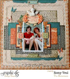 April 2015 G45 Artisan Style - Imagine, My Brother by Romy Veul; Guest Designer for Paper Crafter's Library
