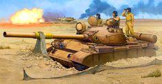 Iraqi tank during the First Gulf War