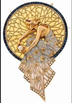 """Sublime broche """"femme à la perle"""""""
