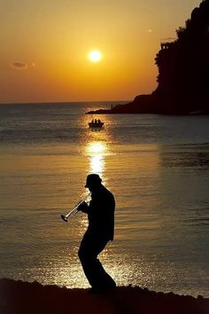 "Jazz at Sunset. ""The breaking of a wave cannot explain the whole sea.""  Vladimir Nabokov"