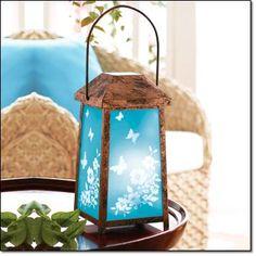 "Floral Garden LED Lantern 10.5"" H Metal  $16.99  www.youravon.com/jthesing"