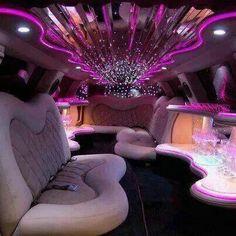Inside a limousine