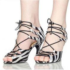 HXYOO Zapatos de baile Heel 4.5-8.5cm Zebra Black Purple Red Color Salsa  Shoes Comfortable Women Latin Satin Dance Shoes JYG458. 13e758d5829f