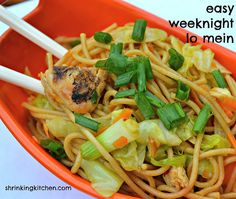 Easy Weeknight Lo Mein. It's all healthed up, but still super delish - Servaes 4