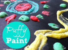 DIY microwave puffy paint - fun activity for kids that combines art, math, science and sensory play.