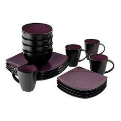 16 Piece Square Dinnerware Set