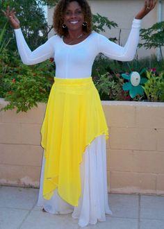 Praise Dance Overlay Skirt