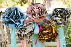 Lets Make Newspaper Flowers - A Fanciful Twist