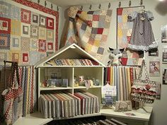 Sweetwater fabric display at JEllen's House of Fabric in Lyndhurst, OH