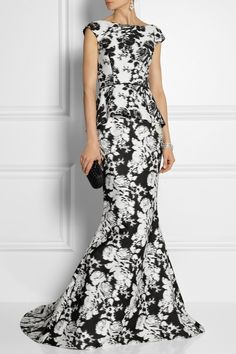 Oscar de la Renta|Floral-print cotton and silk-blend top|