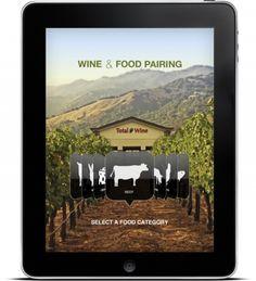 Wine app design for iPad