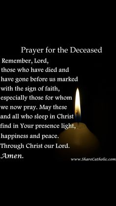 Prayer for the soul to rest in peace