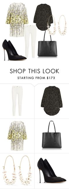 """""""Untitled #4878"""" by noemydifiore ❤ liked on Polyvore featuring Acne Studios, Madewell, Giambattista Valli, Yves Saint Laurent, Isabel Marant and Casadei"""
