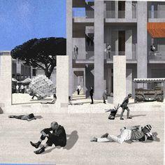Marché sur le Rivage / Diplôme - Dimitri Felouzis Architecte