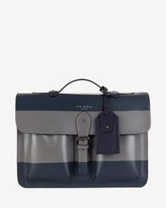 Striped leather satchel Ted Baker