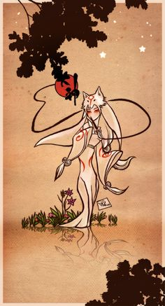 Okami Amaterasu - human form by Priscillia.deviantart.com on @deviantART