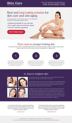 long lasting solution for skin care and anti ageing product landing page design to increase your leads Organic Skin Care, Natural Skin Care, Best Landing Pages, Skin Care Treatments, Younger Looking Skin, Inevitable, Stretch Marks