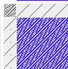 draft image: Figure A Handbook of Weaves by G. Weaving Designs, Weaving Patterns, Quilt Patterns, Crochet Patterns, Crochet Chart, Filet Crochet, Dobby Fabric, Textiles, Pattern Drafting