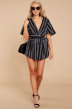 At Red Dress Boutique, we have rompers and playsuits in stock for every season or occasion. Shop our full collection of seasonal rompers ✓Shop the Look Black Romper, Playsuits, Black Stripes, Sexy, Going Out, Your Style, Rompers, Sorority Recruitment, Boutique