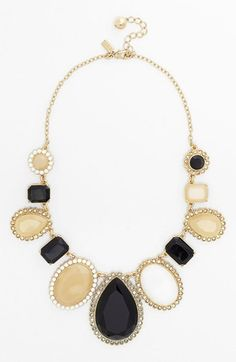 Wish i could afford this for my girls. It would go perfect!! but $250?! kate spade new york 'run around' framed stone statement necklace