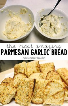 Parmesan Garlic Butter Spread -- perfect for making garlic bread quickly! Garlic Butter Spread, Garlic Butter For Bread, Make Garlic Bread, I Love Food, Good Food, Yummy Food, Tapas, Side Recipes, Cooking Recipes