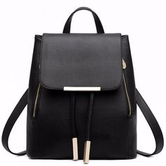 03f47678f8eb Find More Backpacks Information about Black School Supplies Backpack Female  PU Leather Backpack Japanese Street Bag