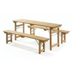 wood folding picnic beer garden biergarten table -gardenista