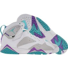 Air Jordan 7 Mineral Blue Purple GS ❤ liked on Polyvore featuring shoes
