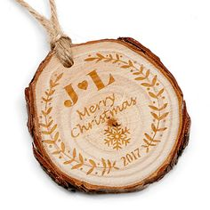 Laser Engraved Wooden Ornaments are beautiful and meaningful