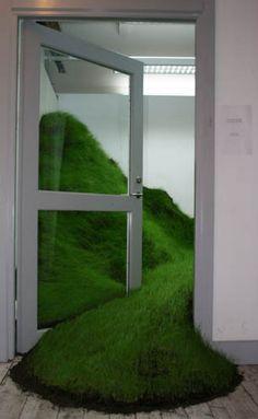 Per Kristian Nygård - Grass installation  at Malmö Art Academy