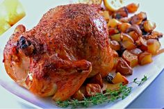 Whether it's Thanksgiving or just mere Sundays, a chicken roast completes every special occasion meal or makes a simple meal occasionally special. Chicken Roast is a salivating recipe that is being prepared since centuries. Roast is a slow way of cooking Roast Chicken Video, Perfect Roast Chicken, Roast Chicken Recipes, Turkey Recipes, Roasted Chicken And Potatoes, Roasted Garlic, Garlic Chicken, Grilled Chicken, Crispy Potatoes