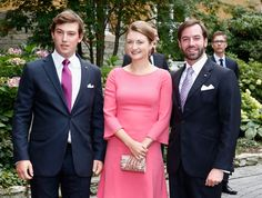 huffingtonpost:  Civil wedding of Claire Lademacher and Prince Felix of Luxembourg, September 17, 2013-Prince Sebastien, HGD Stephanie and HGD Guillaume