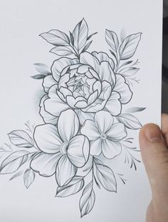 25 Beautiful Flower Drawing Information & Ideas - Tattoo - Flowers New Tattoos, Body Art Tattoos, Sleeve Tattoos, Inspiration Tattoos, Beautiful Flower Drawings, Beautiful Flowers, Tattoo Sketches, Tattoo Drawings, Pencil Drawings